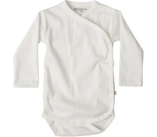 Morris L/S wrap-body white - Minimalisma