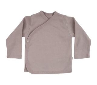 Mini wrap-over baby cardigan dusty rose - Minimalisma