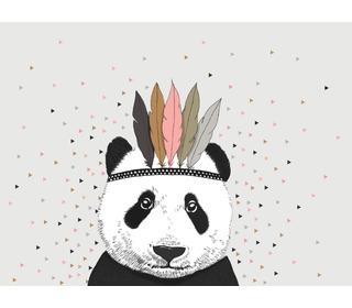 poster Panda triangle - Minimel