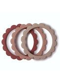 Flower bracelet 3 pack - blush/rose/sh.sand