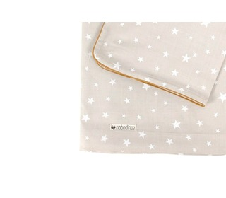 dekbedovertrek Vancouver sand white stars - Nobodinoz