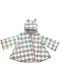regenjas voor kinderen - blue scales