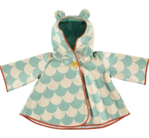 Regenjas voor kinderen green scales mode accessoires kinderkleding 0 8 jaar nobodinoz for Deco slaapkamer jongen jaar