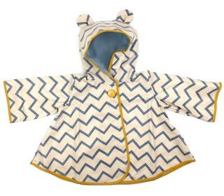 regenjas voor kinderen - zigzag blue - Nobodinoz deco