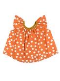 baby blouse Havana - apricot polka dot