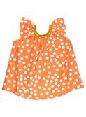 baby jurkje - dress Cuba - aprikot polka dot