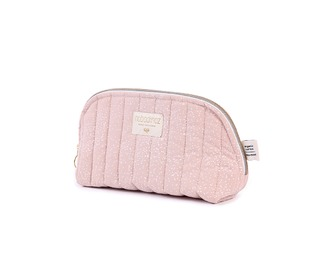 Holiday vanity case small white bubble/misty pink - Nobodinoz