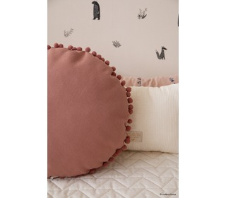 Sunny round cushion dolce vita pink - Nobodinoz