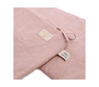 Nest cot bumper white bubble/misty pink - Nobodinoz
