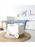Toy chest on wheels white