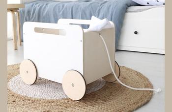 Ooh Noo - houten poppenwagen, houten alfabetblokken en houten trekkarretje