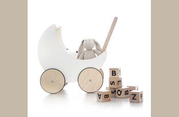 Ooh Noo - houten poppenwagen en houten blokken