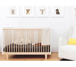Rhea Crib White/Birch - Oeuf NYC
