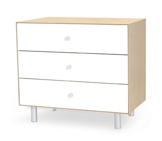 Merlin 3 drawer Dresser White/Birch - Oeuf NYC