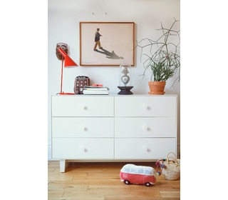 Merlin 6 Drawer Dresser White - Oeuf NYC