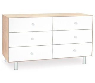 Merlin 6 Drawer Dresser White/Birch - Oeuf NYC