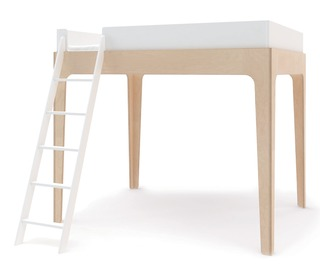 Perch Loft Bed White/Birch - Oeuf NYC