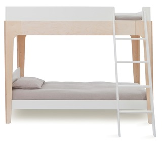 Perch Bunk Bed White/Birch - Oeuf NYC