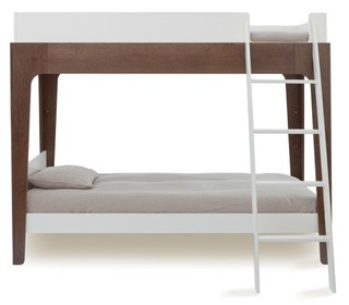 Perch Bunk Bed White/Walnut - Oeuf NYC