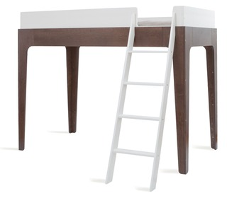 Perch Loft Bed White/Walnut - Oeuf NYC