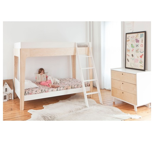 Oeuf Perch Bunk Bed: Perch Bunk Bed White/Walnut