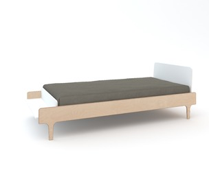 River Twin Bed White/Birch - Oeuf NYC