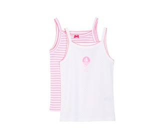 set van 2 meisjeshemdjes | Petit Bateau - Petit Bateau