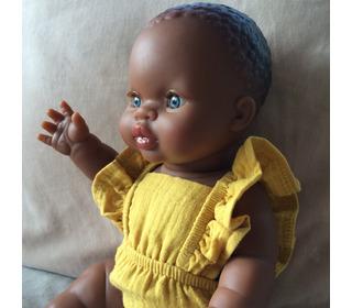 Poupée Gordis - Petite fille d'Afrique aux jeux clairs - Paola Reina