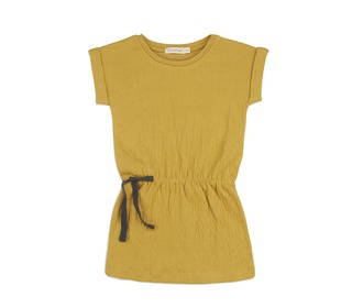 Textured blouson dress - burnt clay│Phil and phae
