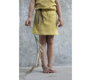Textured blouson dress - burnt clay - Phil & Phae