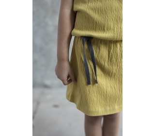Textured blouson dress - burnt clay - Phil & Phae