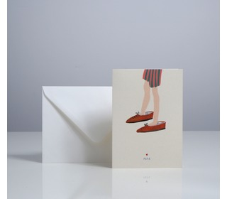Card souliers papa - Season Paper collection