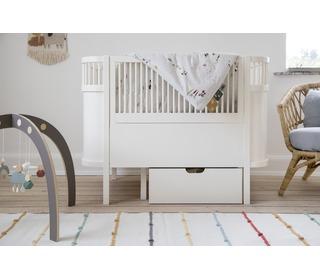 The Sebra bed Drawer, Baby & Jr. Classic white - Sebra