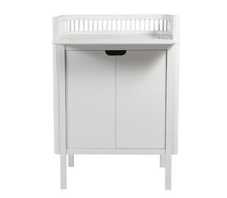 Sebra changing unit, doors, Classic white - Sebra