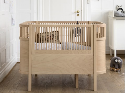 The Sebra bed, baby & junior, Wooden Edition - Beech wood