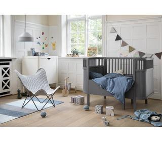 The Sebra bed, baby & jr., dark grey - birch wood - Sebra