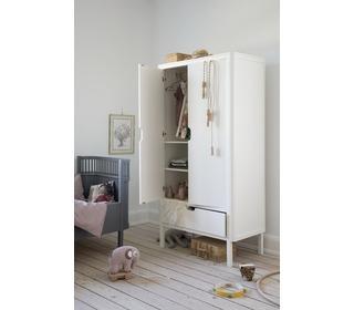 The Sebra Wardrobe, double door, white - Sebra