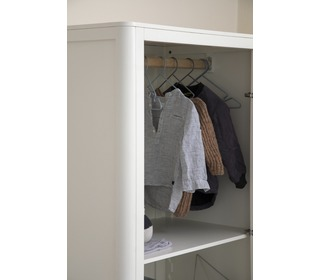 The Sebra Wardrobe, double door, white - Sebra