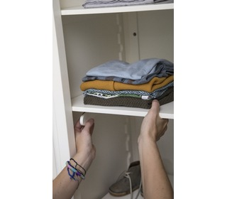 The Sebra Wardrobe, single door, white  - Sebra
