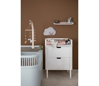 Sebra changing unit, drawers, Classic white - Sebra