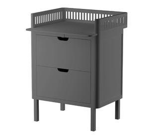 Sebra changing unit, drawers - Classic grey - Sebra