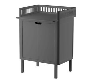 Sebra changing unit, doors - Classic grey - Sebra