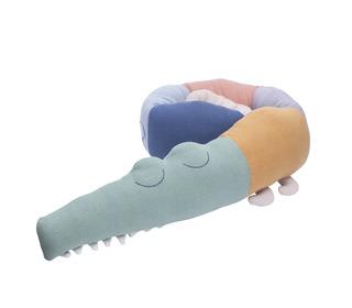 Knitted cushion, Sleepy croc, multi - Sebra