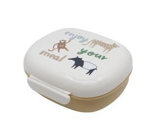 Lunch box w/divider, Wildlife - Sebra