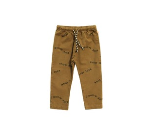 broek Many words woven pants - Tinycottons