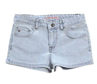 bleached jean short - Tinycottons
