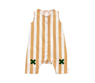 overall Stripes wv logo onepiece | Tinycottons